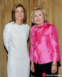 Caroline Kennedy and Hillary Clinton.