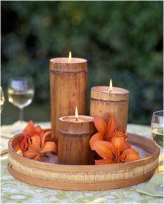 O bambu bem trabalhado também fica um charme e dar um ar mais sério e elegante ao seu casamento.