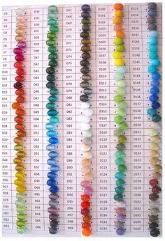 Devardi стеклянные палочки Lampworking Диаграмма цвета