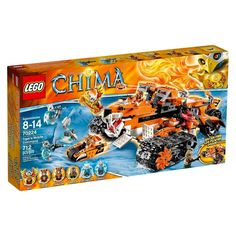 Lego Legends of Chima Tiger's Mobile Command 70224 (673419229807) LEGO® Legends of Chima™ Tiger's Mobile Command 70224: . Battle Saber-tooth invaders with Tiger's Mobile Command! Take on Sir Fangar with LEGO® Legends of Chima™ Tiger's Mobile Command with fire CHI power mode, 2 Tiger Pursuit Bikes and Command Center. Sir Fangar's Saber-tooth army seems unstoppable as it freezes the kingdom of Chima and steals all the CHI. Team up with the elite Tiger warriors to launch a roaring…