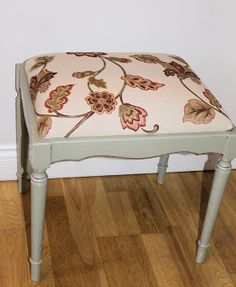 Dressing Table Stool from theGreenSuitcaseCo Dressing Table With Stool, Vanity Bench, Suitcase, The Originals, Bedroom, Green, Furniture, Design, Home Decor