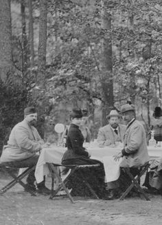 Alexander III and Maria Feodorovna with others.