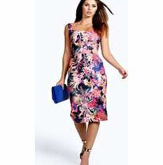 0331b16d4aaf3 boohoo Steph Floral Midi Bodycon Dress - multi azz24650 The flattering way  to wear floral print