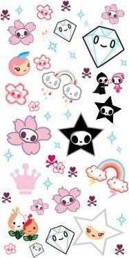 tokidoki Tattoos | Mole Twinpack by Happy Tree Friends