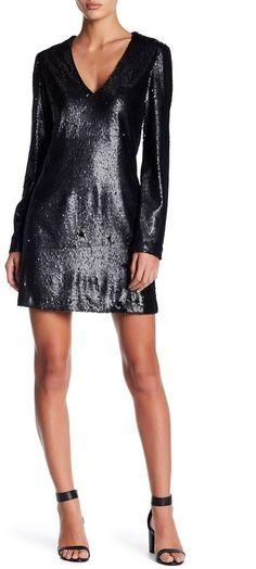 55b6c0b7ff63c WAYF Skyline V-Neck Sequin Dress  affiliate  dresses Sequin Dress