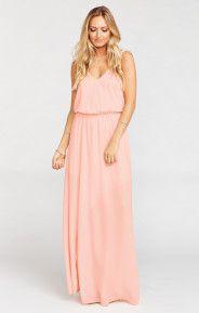Kendall Maxi Dress ~ Frosty Pink Crisp