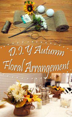 Fall DIY - Mini Autumn Floral Arrangements - Lexis Rose