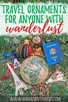 If you love travel or have a sense of wanderlust, you'll love these Christmas ornaments and decorations for travelers. With globe ornaments, personalized travel ornaments to commemorate a special trip, and ornaments from a wide variety of destinations, yo Christmas Style, Christmas Travel, Christmas Tree Themes, Holiday Travel, Christmas Ornaments, Beach Holiday, Christmas Projects, Christmas Decor, Xmas