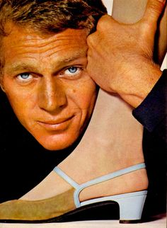 Model Jean Shrimpton & actor Steve McQueen, Harper's Bazaar magazine, February, 1965. Photographer Richard Avedon