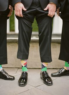 Groom's Goofy #Socks | See the wedding on #SMP:  http://www.stylemepretty.com/2013/12/12/traditional-charleston-wedding/ KT Merry Photography