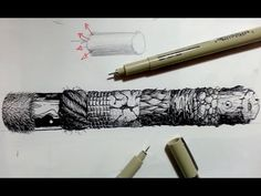 Pen & Ink Drawing Tutorials | How to create realistic textures (Part 2) - YouTube