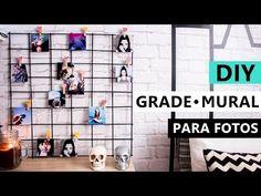 DIY Grade para fotos - Mural decoração com PALITO de Churrasco - YouTube