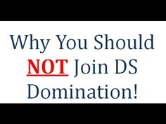 DS Domination Review   Education On Why You Should NOT Join (D$ Domination)