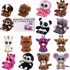 Ty Beanie Boos 6 Soft Toy   Ty Beanie Boo Peek-A-Boo Smart 9be11705688e