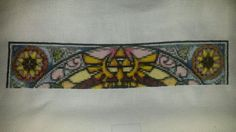 RedVelvetsCrafts  Finished 4,740 stitches in 22 days of the wind waker stained glass window cross stitch. Avg. Of 215 a day.