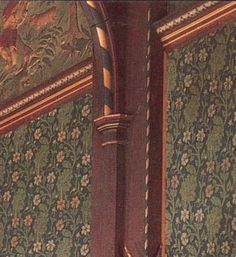 Wm Morris & Co Gothic Revival Arts & Crafts Movement Wightwick Manor great hall woodwork