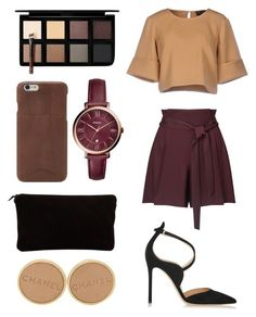 """""""5"""" by llviktoria on Polyvore featuring мода, Miss Selfridge, The Fifth Label, Gianvito Rossi, Louis Vuitton, FOSSIL, Chanel и Down to Earth"""