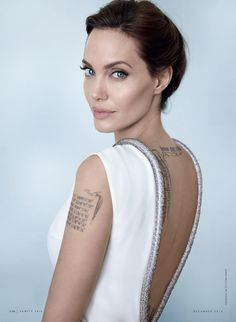 Vanity Fair - Woman of the Year.  December 2014.  Angelina Jolie.  Photography by Mario Testino.