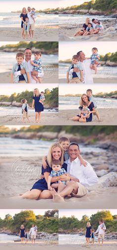 Family Beach Session - #rhodeisland #babyphotographer #heidihope