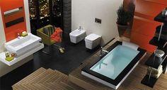 Baños modernos: fotos diseños - Baño moderno con jacuzzi