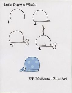 Let's Draw a Whale - T. Matthews Fine Art (Diy Art Large)