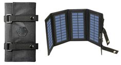 MOLLE Foldable Solar Sun Charger w/ USB Port for Mobile Cell iPhone iPod PSP