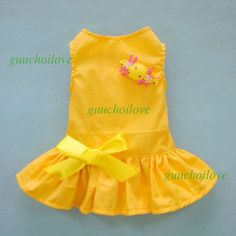 Amazon.com: Adorable Bright Dog Dress for Dog Shirt Dog Clothes Sundress for Dog, Yellow Candy, X-small: Pet Supplies