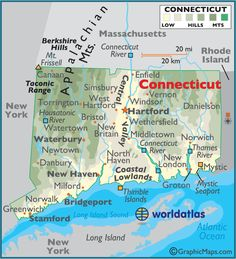 Connecticut outline map