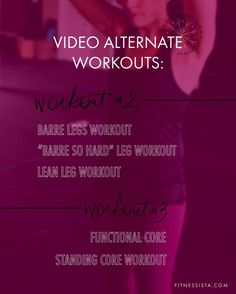 For today's workout, we have a barre leg workout. This is a great way to add additional challenge to your routine, especially if you're used to traditional strength training. Barre is a muscular endurance workout, focusing on lots of reps, lower weights, small pulsing movements, and isometric holds. | The Fitnessista Six Pack Abs Workout, Abs Workout For Women, Workout For Beginners, At Home Workouts For Women, Workout Routines For Women, Killer Workouts, Barre Workouts, Quick Workouts, Body Workouts
