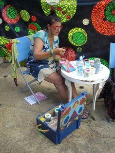 At work, Cropredy Festival 2014