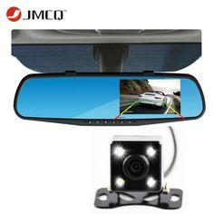 최신 자동차 카메라 백미러 자동차 Dvr 듀얼 렌즈 대시 캠 레코더 비디오 Registrator 캠코더 FHD 1080 마력 나이트 비전 dvr의