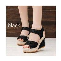 Wish   Summer Ladies Shoes Wedges Gladiator Sandals Women Platform Sandals Chaussure Sandale Femme Thick Heel Sandalias Zapatos Mujer
