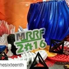 #Repost @rosiethesixteenth with @repostapp  3D print all the things @ Midwest Rep Rap Festival #MRRF #indiana #3dprinting #seemecnc #3dprinter #tech #stem #colors #2016 #mmrf2016 #rostockmaxv2 #prusai3 #reprap #DIY #elkheart #ardiotech #arduino #womeninstem  #girlsintech #maker #makeraddictz by hackaday