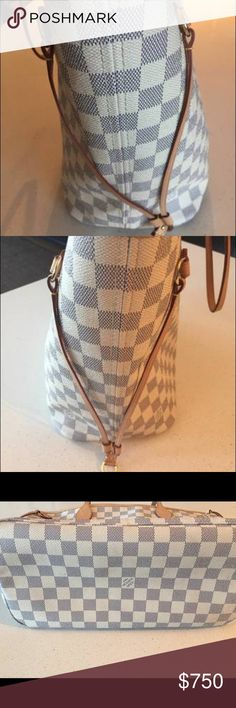 Authentic Louis Vuitton Neverfull damier azur Purse was not bought please contact me at 13133386969 for more pictures of the purse and receipt an date code also dust bag thanks Louis Vuitton Bags Shoulder Bags
