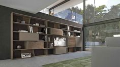 CrossART is a modular, versatile and customisable system that interprets new living trends. Precious materials, exclusive finishes and refined lines are the… Modern Wall Units, Villa, Media Unit, Living Room Modern, Contemporary Furniture, Furniture Design, Home And Garden, The Unit, Shelves