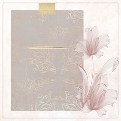Gold Wallpaper Background, Vintage Flowers Wallpaper, Framed Wallpaper, Phone Wallpaper Images, Flower Wallpaper, Wallpaper Backgrounds, Flower Graphic Design, Wedding Logo Design, Photo Collage Template