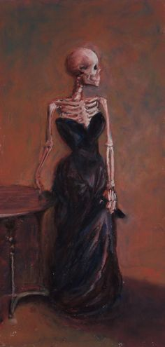 Madame X-Ray is a parody by Marie Marfia of a famous work by John Singer Sargent. Cards, prints and canvas wraps are available in my shop. Art Bizarre, Creepy Art, Portrait Draw, Art Sketches, Art Drawings, Beautiful Dark Art, Skeleton Art, Skeleton Makeup, Skull Makeup