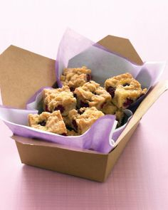 Blackberry Crumb Bars - would try standard substitutions: whole wheat flour and half the sugar...