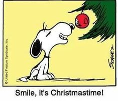Smile Snoopy, it's Christmastime! Peanuts Christmas, Charlie Brown Christmas, Charlie Brown And Snoopy, Christmas Love, Christmas Countdown, Christmas Pictures, Merry Christmas, Christmas Trees, Snoopy Images