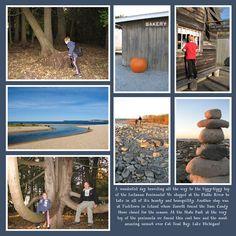 scrapbook layout - vacation, day trip adventure