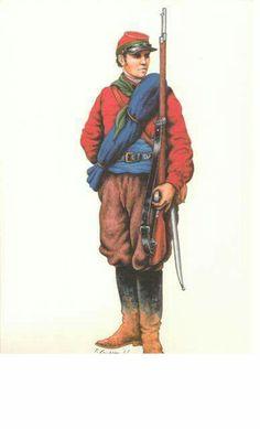 Tiratore Italiano 'dell'Armata dei Vosgi' - Volontari garibaldini in Francia - 3a Brigata, Guerra franco-prussiana, 1870