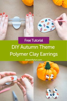 DIY Autumn Theme Polymer Clay Earrings