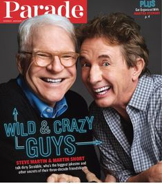 """omedy legends and on tour now in their hilarious new show, """"Now You See Them, Soon You Won't. Martin Short, Steve Martin, New Shows, Martha Stewart, Potato, Legends, Comedy, Hilarious, Couch"""