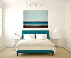Painting SeascapeArt Abstract Acrylic Original von OraBirenbaumArt