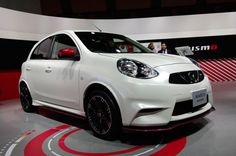 Nissan March NISMO      Whoever said all economy cars are boring is wrong. This little compact is stuffed with racing-bred parts such as functional aerodynamics, stiffer suspension, more robust seat bolstering, and stickier tires. ECU tuning gives the 1.5-liter heart a smidgen more