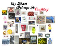 """My Heart Belongs To Crafting"" by patchworkcrafters ❤ liked on Polyvore featuring interior, interiors, interior design, home, home decor, interior decorating, TAXI, Disney and Yellow Jacket"