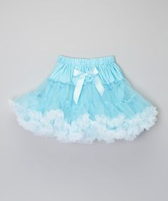 Take a look at this Baby Blue & White Trim Pettiskirt - Infant, Toddler & Girls today!