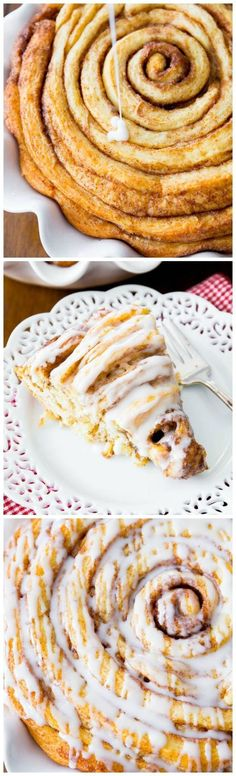 Cinnamon roll cake. Use my ownvegan recipe. But great idea show to for making cinnamon buns as s cake