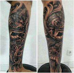 Barong mask tattoo