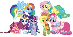 Ponies at the gala by schnuffitrunks on DeviantArt Mlp My Little Pony, My Little Pony Friendship, Manado, Mlp Twilight Sparkle, Beetle Bailey, Little Poni, Equestrian Girls, Rainbow Dash, Lego Star Wars